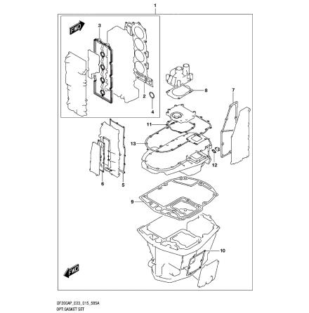 Motorpackningssats Suzuki